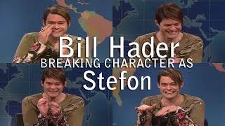Bill Hader Breaking Character As Stefon SNL