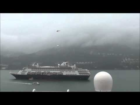 Harris CapRock Helicopters Communications Antenna to In-Port Installation on Cruise Ship