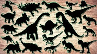Learn dinosaurs for Kids | Scary Dinosaur movie Edit T-Rex, Tricera...
