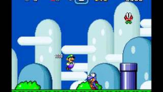 Super Mario World - Luigi sprite comparación