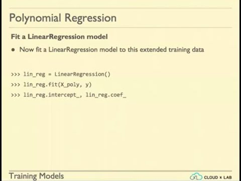 Session 13 - Training Models - Polynomial Regression, Ridge Lasso and Elastic Net