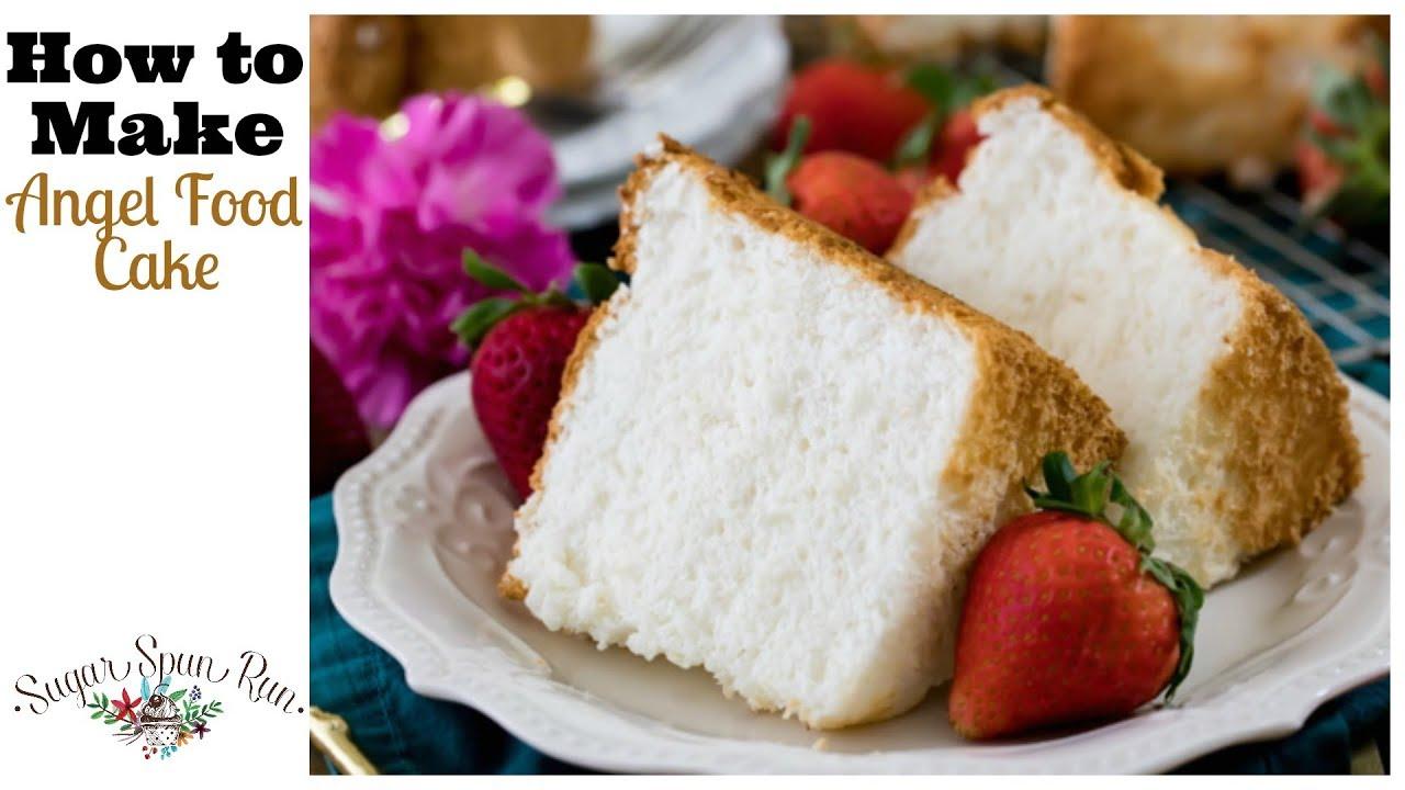 How To Make Angel Food Cake Youtube