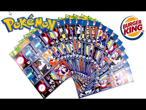 BURGER KING POKEMON MASTER TRAINER COLLECTOR SET COMPLETE SET OF 151 TRADING CARDS 1999 REVIEW