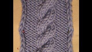 ВЯЗАНИЕ СПИЦАМИ! УЗОР КОСА ИЗ ШЕСТИ ПЕТЕЛЬ! Вязание для начинающих.knitting