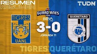 Resumen y goles | Tigres 3-0 Querétaro | Guard1anes 2020 Liga BBVA MX - J11 | TUDN