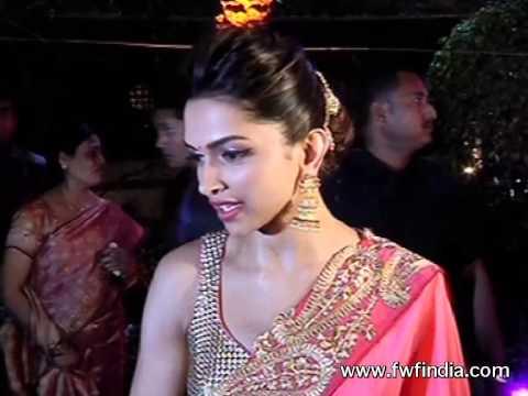 Deepika Padukone In Hot Saree @ Ahana Deol's wedding ...