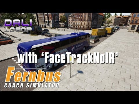 Fernbus Coach Simulator | Last stop Frankfurt Airport with 'FaceTrackNoIR' webcam head tracking app
