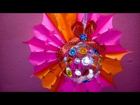 DIY- Christmas Ornaments from plastic Bottle/Christmas  decoration idea | Christmas craft ideas