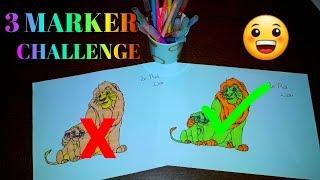 3 MARKER CHALLENGE AVEC MA SOEUR😱 ( LA PETITE SIRENE, LICORNE, LE ROI LION)