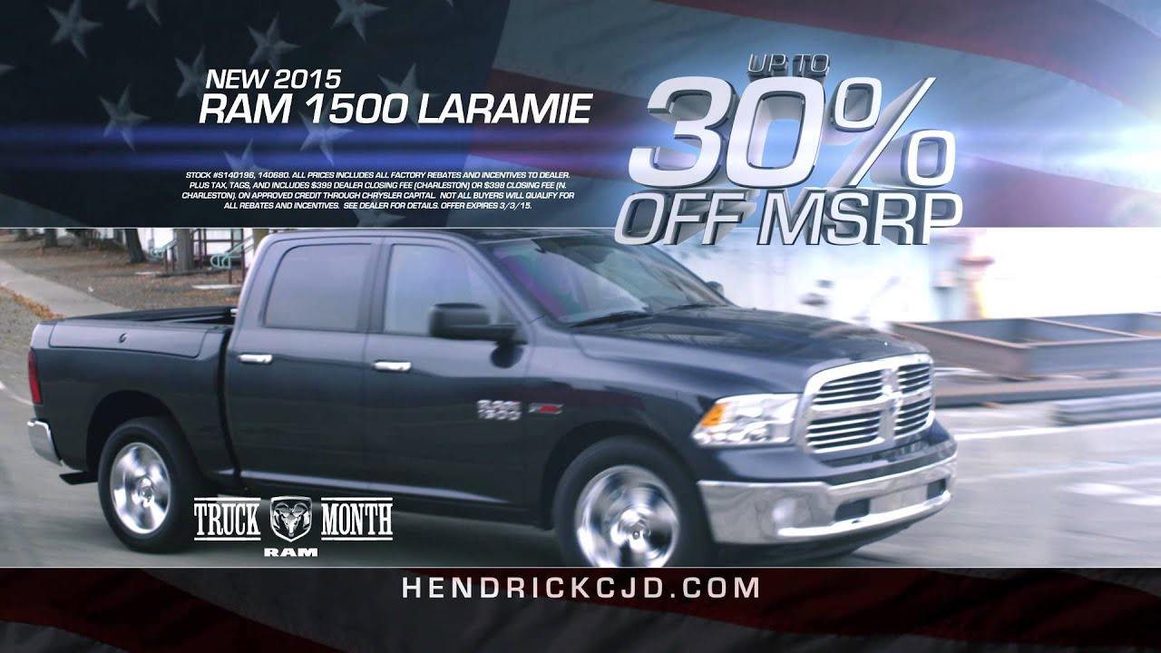 rick hendrick chrysler jeep dodge ram 30 percent youtube. Black Bedroom Furniture Sets. Home Design Ideas
