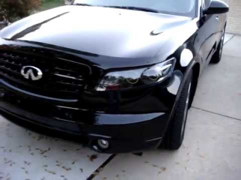 Infiniti Custom Headlights With Led Rings And Remote By