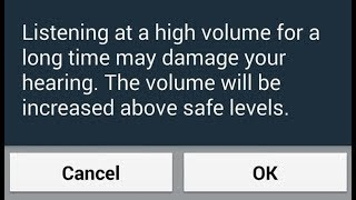 Disable High Volume Warning On Samsung Galaxy Note 8