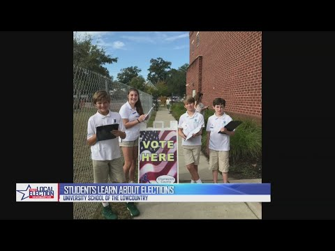 The University School of the Lowcountry gave students an inside look at Election Day