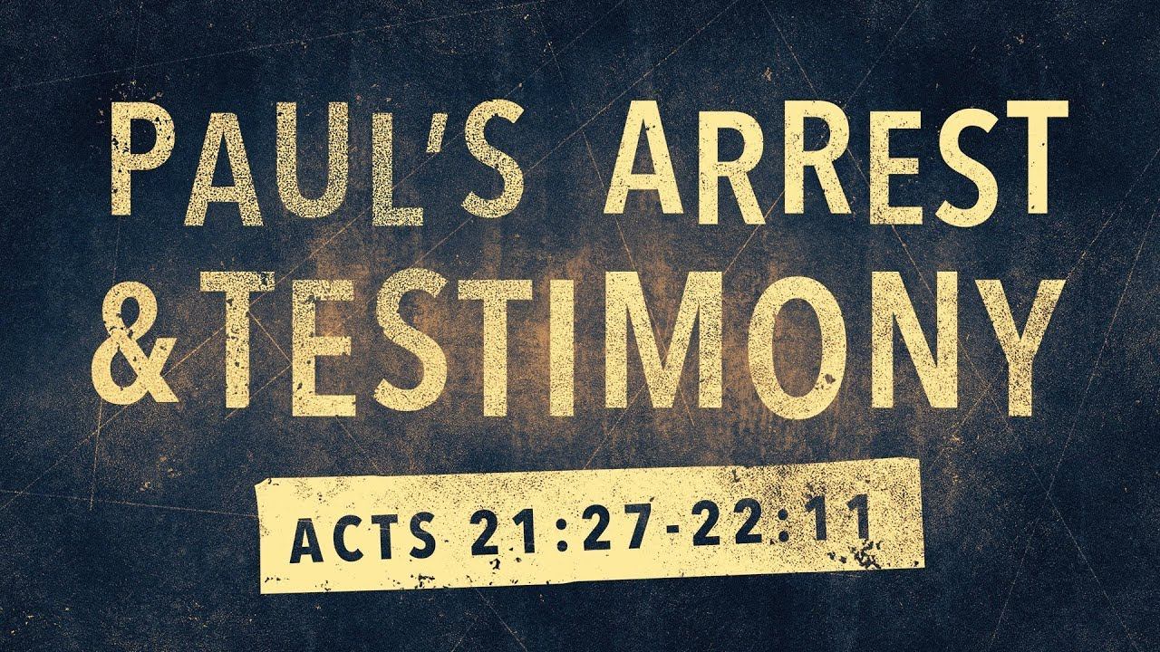 Paul's Arrest & Testimony (Acts 21:27-22:11) - YouTube