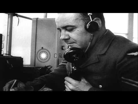 The equipment, manpower, bases and weather reporting stations of Army Air Forces ...HD Stock Footage