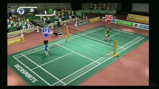 Deca Sports Nintendo Wii Gameplay - Badminton