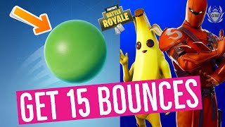 Get 15 bounces in a single throw with the Bouncy Ball toy! Season 8 Week 5 Challenges Fortnite!
