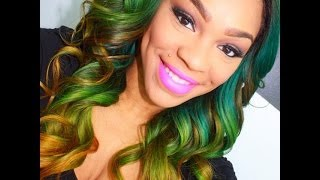 Green/Yellow Ombre on Nana