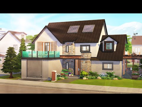 PERFECT ECO-FRIENDLY FAMILY HOME 🌞 | The Sims 4: Speed Build