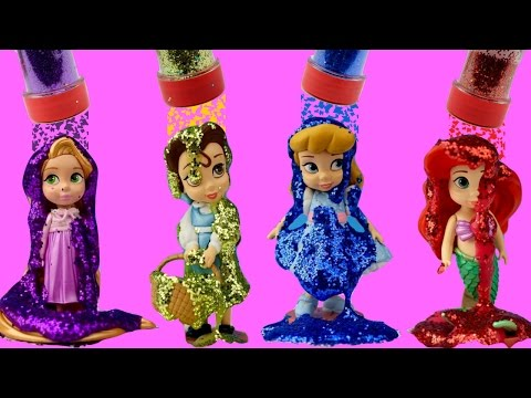 Bath Tub Fun DISNEY PRINCESSES Colorful Bath Paint Sparkle Glitter