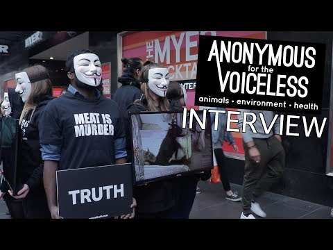 ANONYMOUS interview – Animal Rights & Veganism