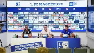 Pressekonferenz vor dem Spiel FC Erzgebirge Aue gegen 1. FC Magdeburg