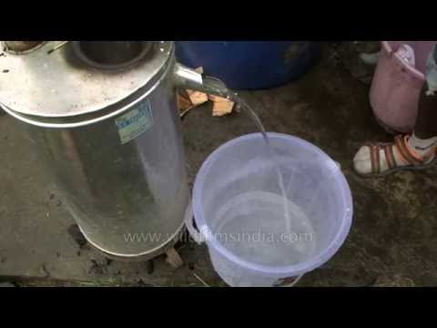 Instant water heater using pine wood : Himalayan appropriate technology
