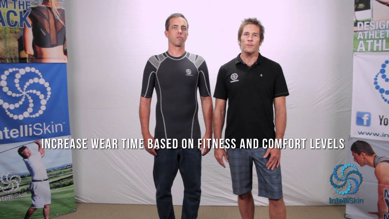 68b820858c5cd Recommended Wear Time of IntelliSkin PostureCue™ Shirt - YouTube
