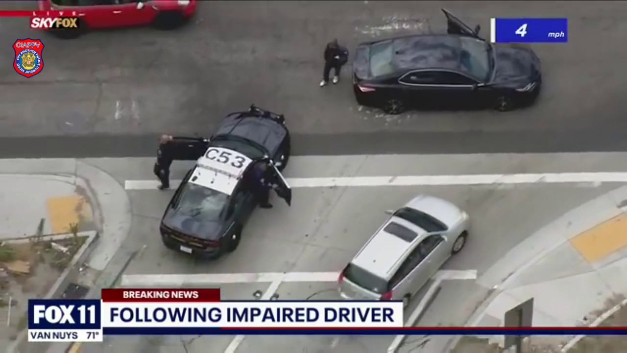 Los Angeles Police In Pursuit Of Possibly Impaired Driver - June 29, 2020