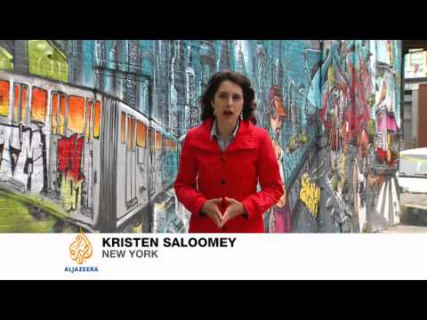 Graffiti artists battle for New York factory