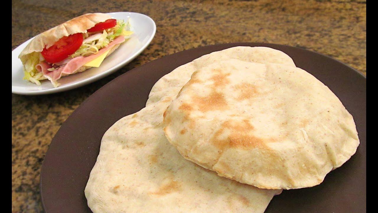 C mo hacer pan de pita f cil y r pido youtube for Cocina facil y rapido de preparar