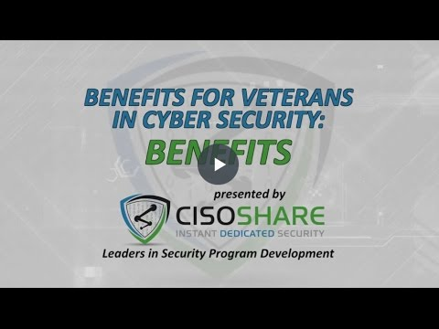Benefits For Veterans In Cyber Security Youtube