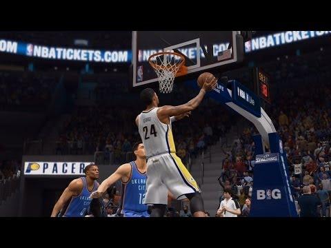 NBA Live 14 PS4 - Oklahoma City Thunder vs Indiana Pacers - Halftime Highlights Show - HD