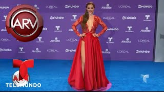 Aracely Arámbula se lució con su vestido en Premios Tu Mun...