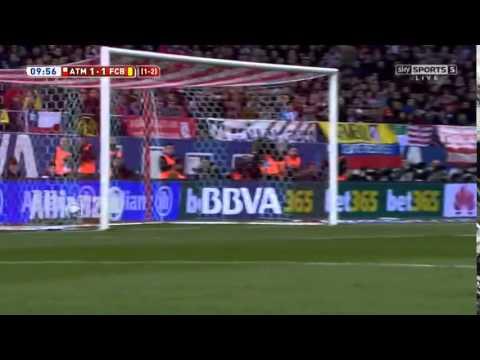Atletico Madrid 2 – 3 Barcelona Highlights - Copa del Rey - 28.1.2015