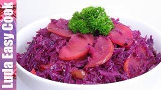 Реально Вкусная ТУШЕНАЯ КАПУСТА с яблоками и луком. Попробуйте! | Braised Red Cabbage recipe