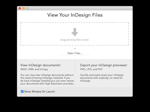 InDesign File Open Utility