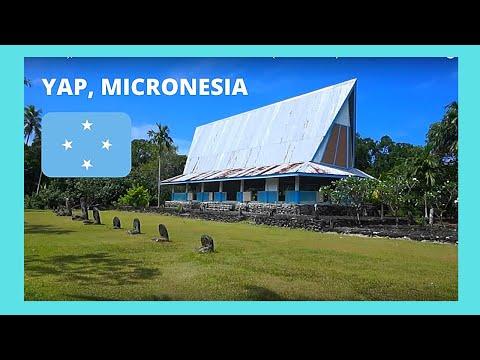 YAP (MICRONESIA), inside a  modern MEN'S HOUSE (Pacific Ocean)