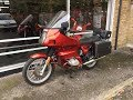 BMW R80RT 1983 RED START UP & REVIEW