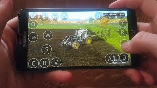 Farming simulator 2017 on android(samsung galaxy note4)  Kleinhau map field work