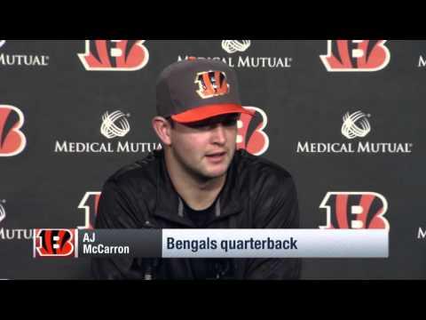 AJ McCarron Feels like 2001 Tom Brady | Steelers vs. Bengals | NFL