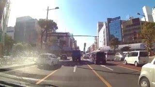 車載動画 宮崎市 橘通りと橘橋