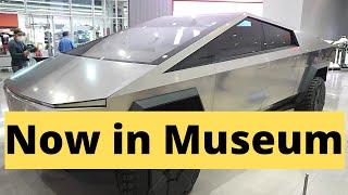 Close Looks at Tesla Cybertruck at Petersen Automotive Museum