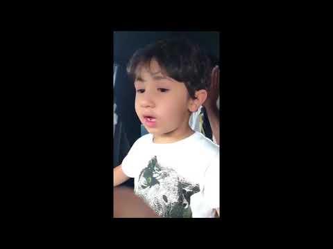 A 6 years old boy inside Etihad Airways cockpit
