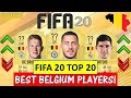 FIFA 20 | TOP 20 BEST BELGIUM PLAYER RATINGS!! FT. HAZARD, DE BRUYNE, COURTOIS ETC(FIFA 20 UPGRADES)