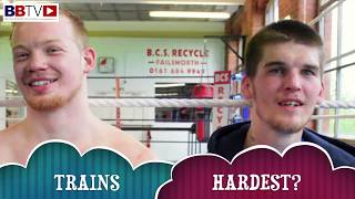 GYM MATES: MACAULAY McGOWAN & JAMIE MITCHELL