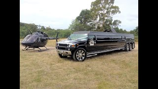 Indian Bday Bash With Triple Axle Hummer Limousine 2016 !!