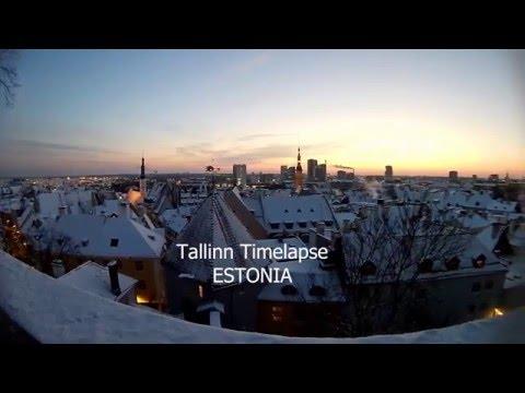 Tallinn beautiful Timelapse 2016,  Estonia, EKEN H9