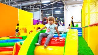 Детская игровая площадка и семейный развлекательный центр Крутопарк   Olivia Vlog