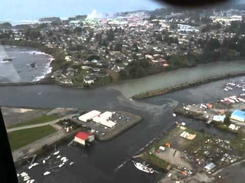 Brookings/Harbor Tsunami Aerial View-Wave Surges 3-11-11